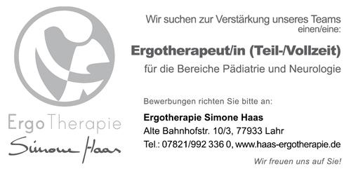 Ergotherapie-Haas-Lahr-Stellenanzeige